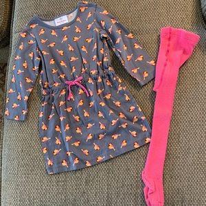 Size 90 (3T) Hanna bird dress/tights